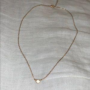 Gold Brandy Melville Heart Necklace